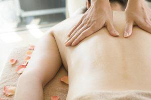 Back of aroma massage